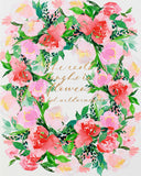 Mon Voir + Oh So Beautiful Paper Floral Calligraphy Print