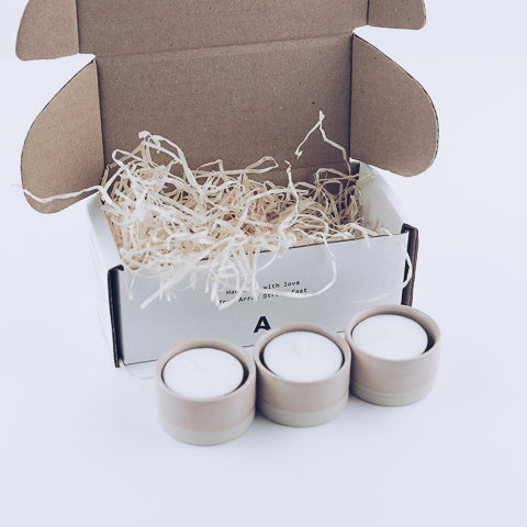 The Tea Light Holders (Set of 3) - ARRAN STREET EAST
