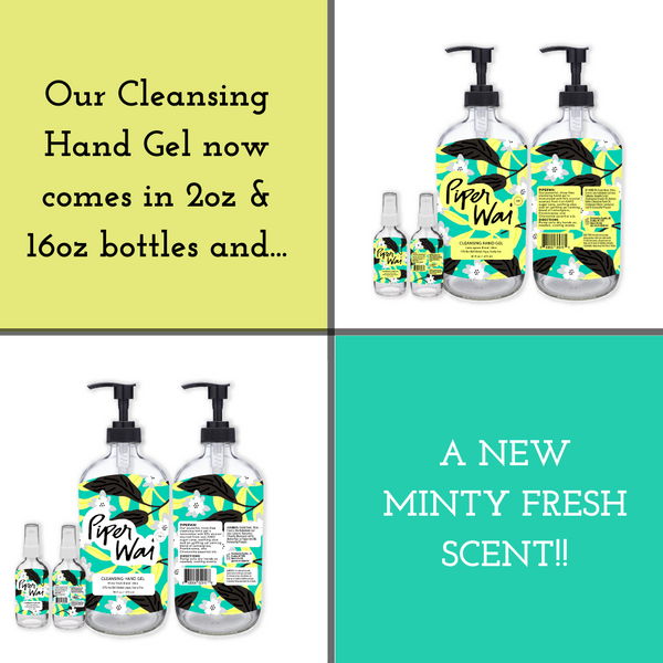 Introducing Our 2oz and 16oz Cleansing Hand Gels with A Brand New Scent!
