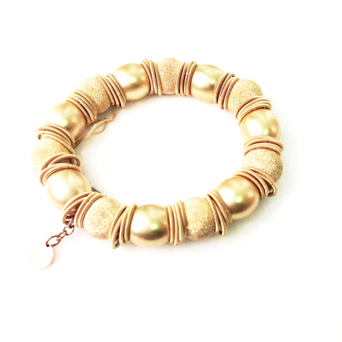 Italian Gold Brush Gold Bracelet