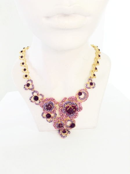 Pink Crystal Neclace