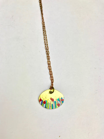 Beach pebble SM Necklace
