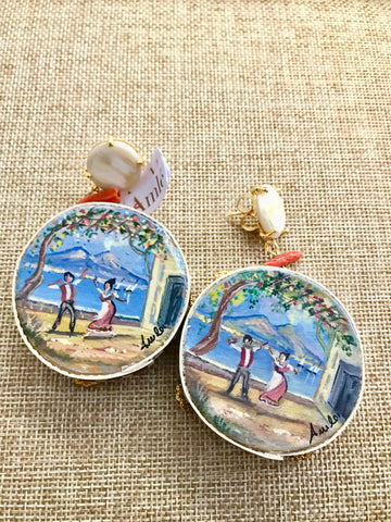 Amle Hand painted Earrings