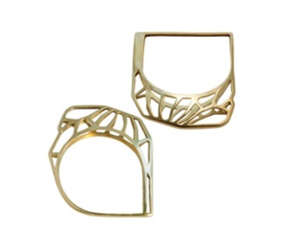 Lihos Cuff Gold Plated, Sterling Silver