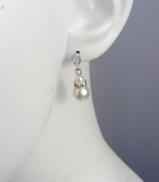 Petite Crystal and Pearl drop