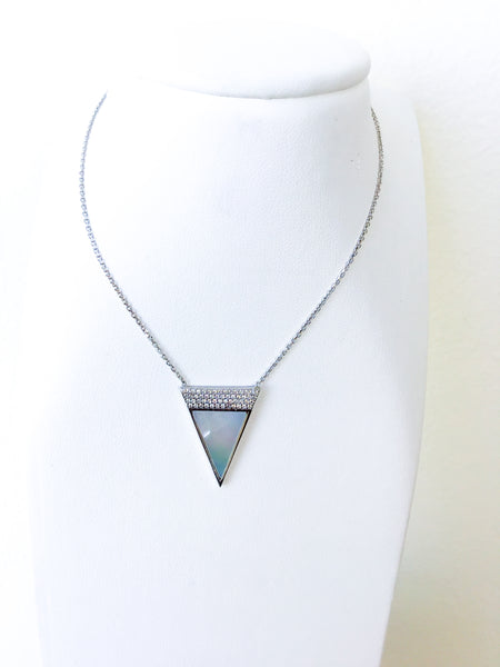 Mother of Pearl Point Necklace