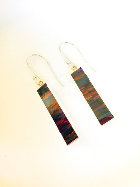 Red Fire Opal Earrings