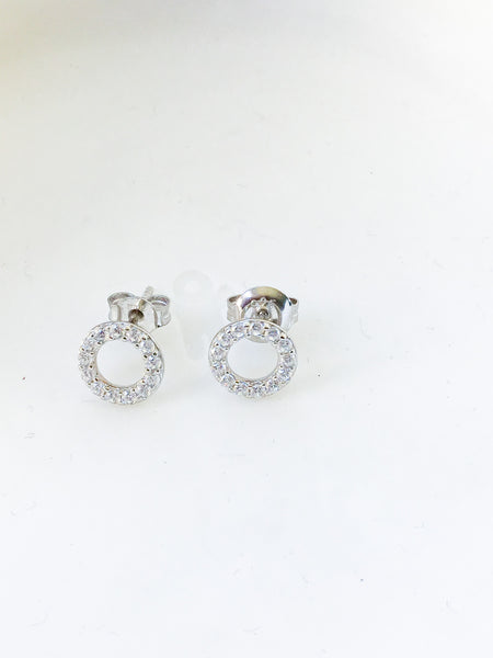 Stud Circle Earrings