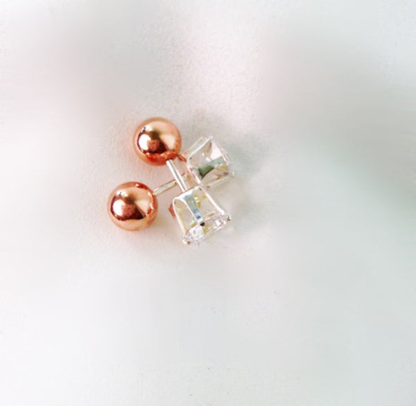 Crystal Front Gold/silver/rose gold Earrings