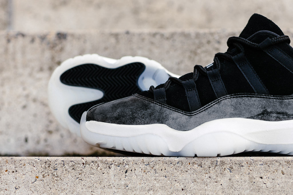Air Jordan 11 Retro Low 'Baron' in Black / White / Metallic Silver available to buy at Soleheaven