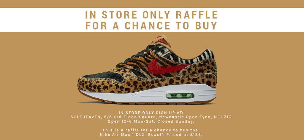 Soleheaven Raffle to buy a pair of the Nike Air Max 1 DLX 'Beast'