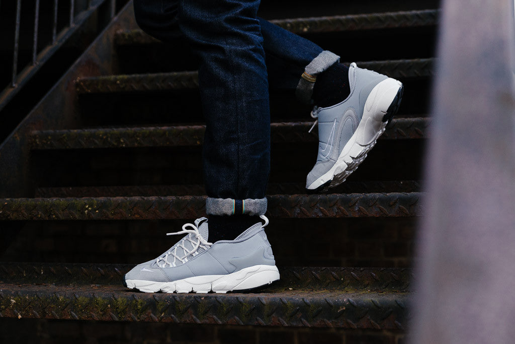 Nike Air Footscape NM 852629-003 in Wolf Grey / Summit White available to Buy now at Soleheaven