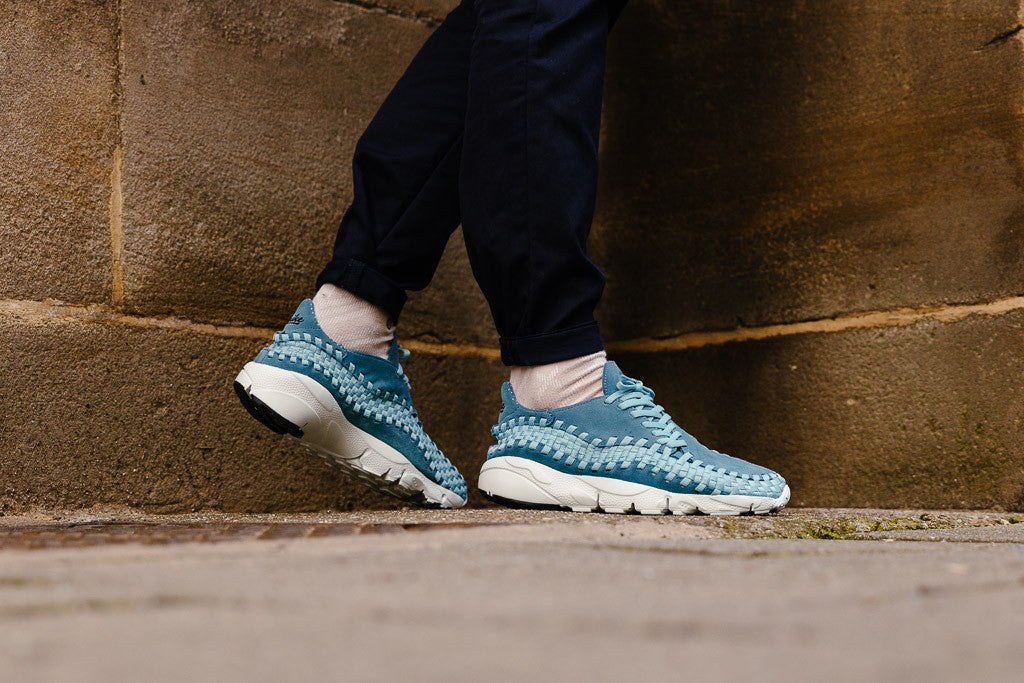 Nike Air Footscape Woven NM 875797-002 in Smokey Blue / University Blue / White available to Buy now at Soleheaven