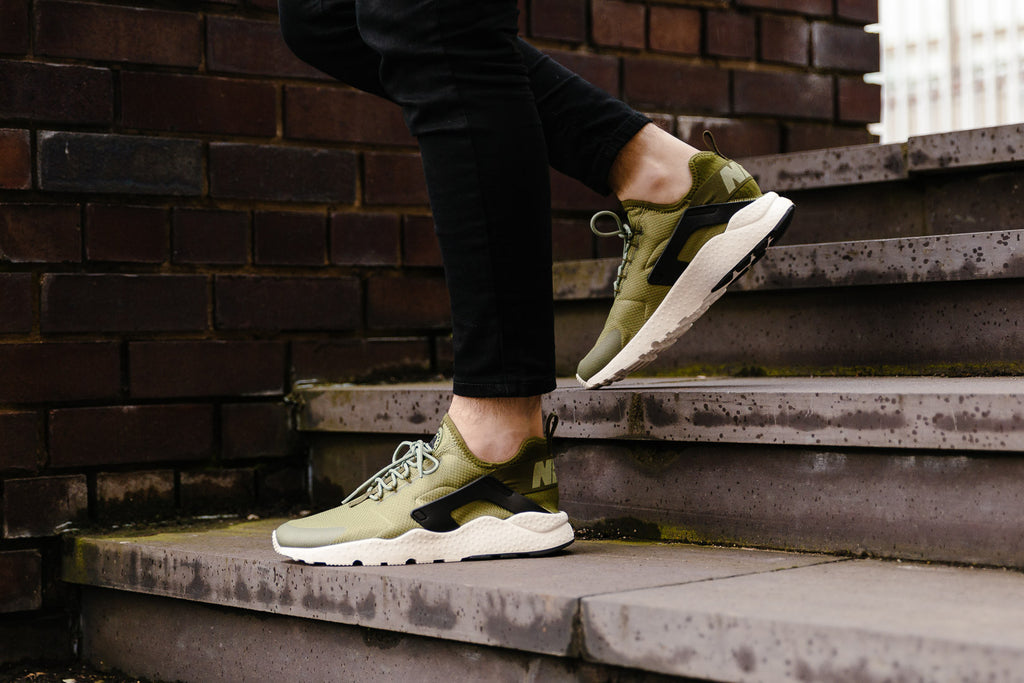 Nike Air Huarache Ultra WMNS in Palm Green / Legion Green / Black / Sail now on Sale at Soleheaven