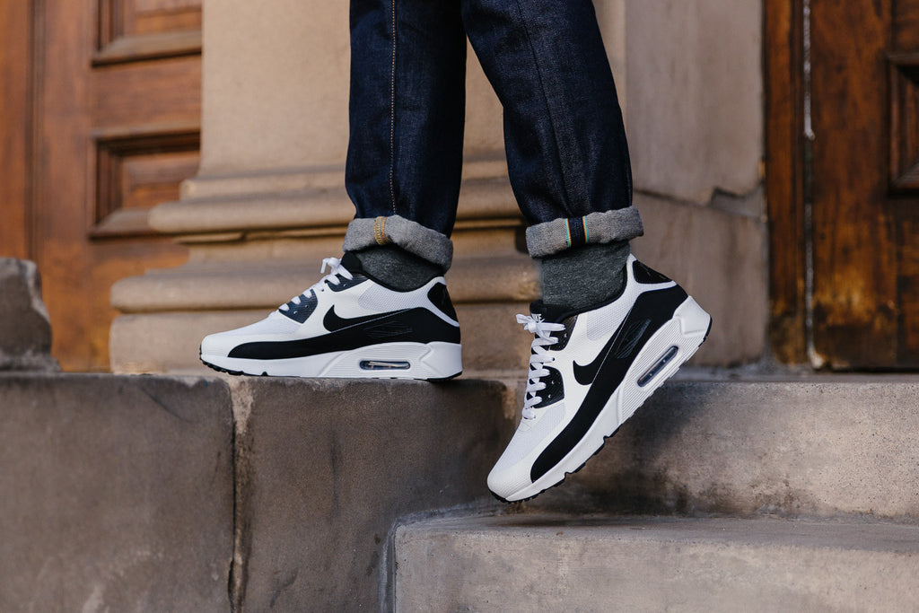 Nike Air Max 90 Ultra 2.0 Essential in White / Black 875695-100 available now on Sale at Soleheaven