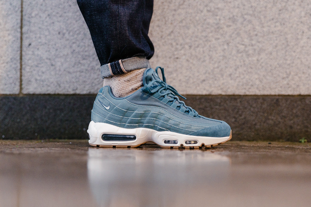 367999f6d3ac6b ... Smokey Blue Nike Air Max 95 Premium Womens The Nike Air Max 95  Street-ready
