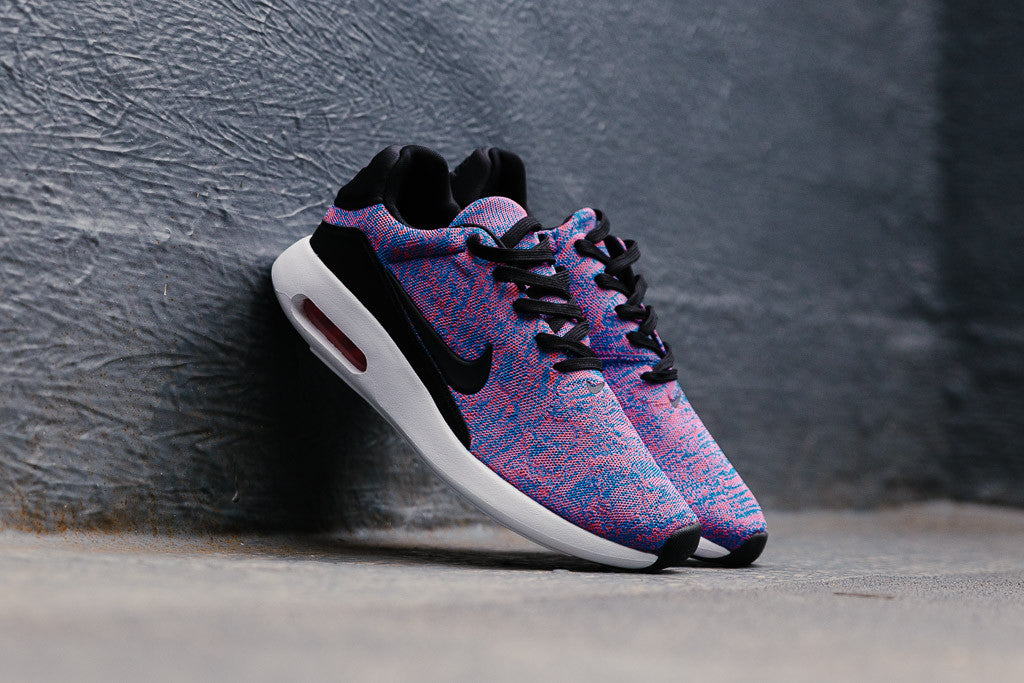 0d4828345f210 Share this post Nike Flyknit Air Max Blue Lagoon Bright Crimson Game Royal  ...