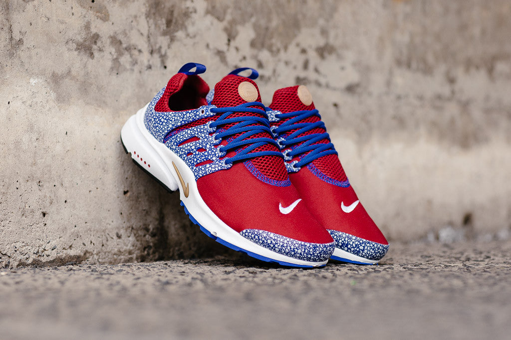 fb3b80a5e94c7f Nike Air Presto QS in Gym Red   Racer Blue   White available to buy at. Nike  Air Presto QS in Turbo Green   Court Purple ...