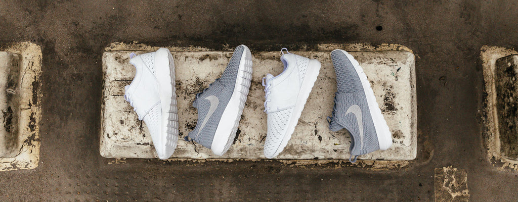 Roshe LSR White Roshe Flyknit NM Grey