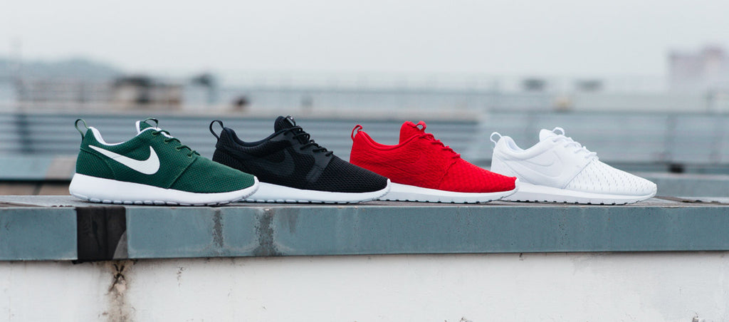 Featuring Nike Roshe Run One, Roshe Run BR, Roshe Run NM Flyknit and Roshe Run NM LSR
