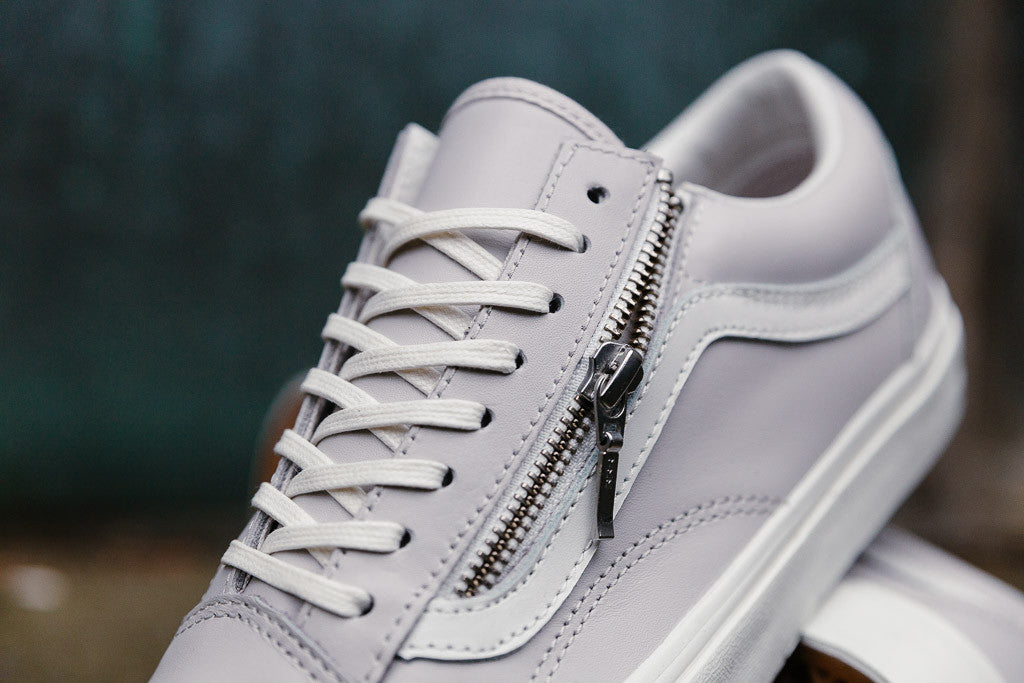 Vans Old Skool Zip Leather VA3493MWU in Wind Chime/Blanc available now to buy at Soleheaven