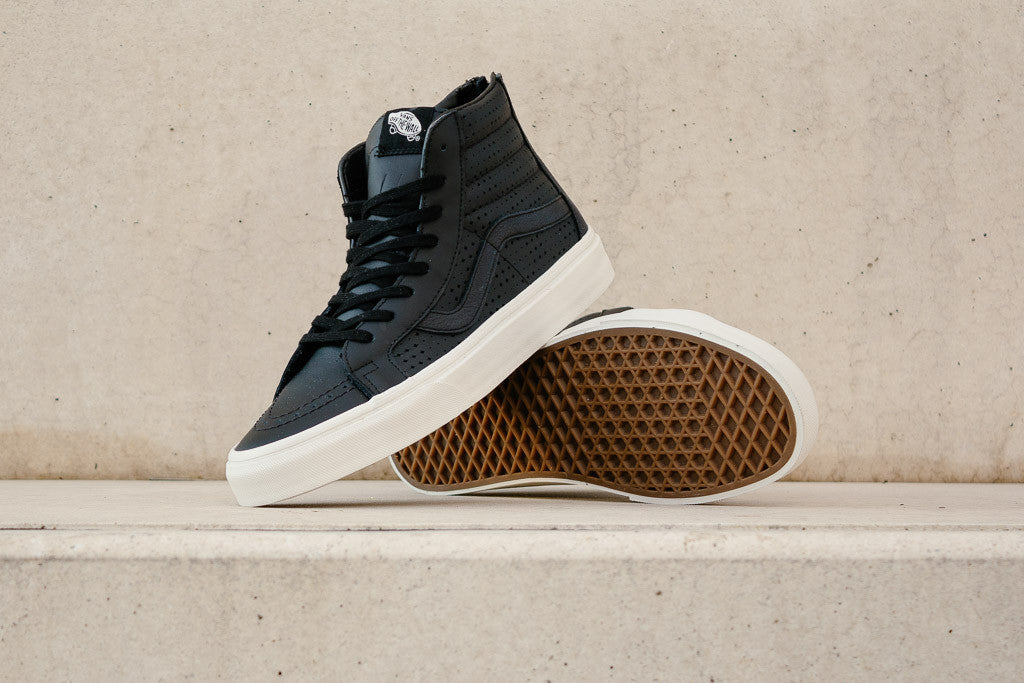 Vans Sk8-Hi Reissue Zip Leather VA33T9KVJ in Black available now to buy at Soleheaven