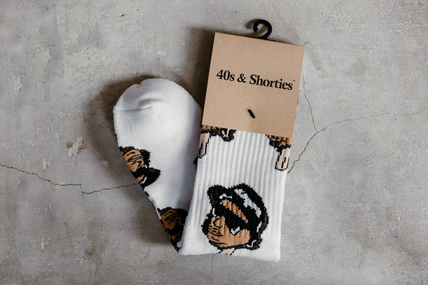 40s & Shorties 'Eazy Ice Cream' Socks EICWHT17