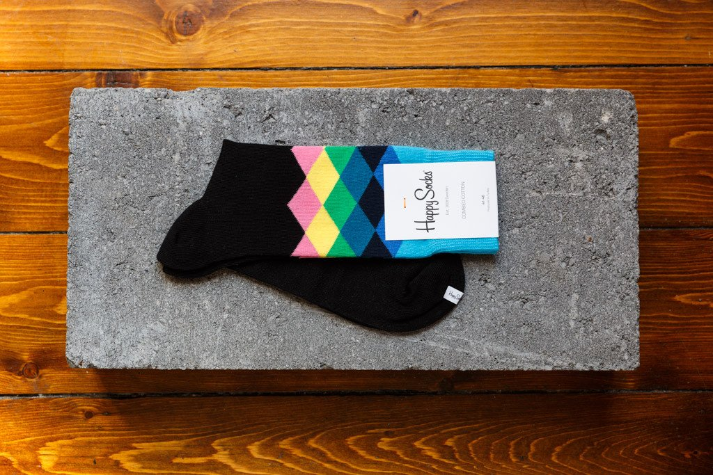 Happy Socks 'Faded Diamonds' FAD01-9001 - soleheaven digital - 1
