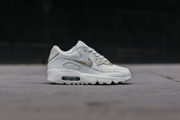 Nike Air Max 90 Leather GS 833376-103, Running, Nike - SOLEHEAVEN