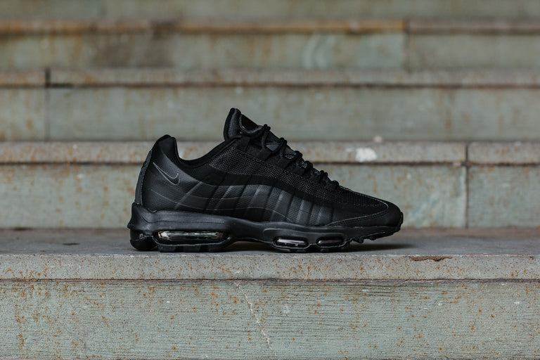 low priced 32a8d b0b94 greece home nike air max 95 ultra essential sneakers in black 857910 012.  image.alternatetext 7bc33 bcc2e  coupon code for gray and black air max 95s  fe227 ...