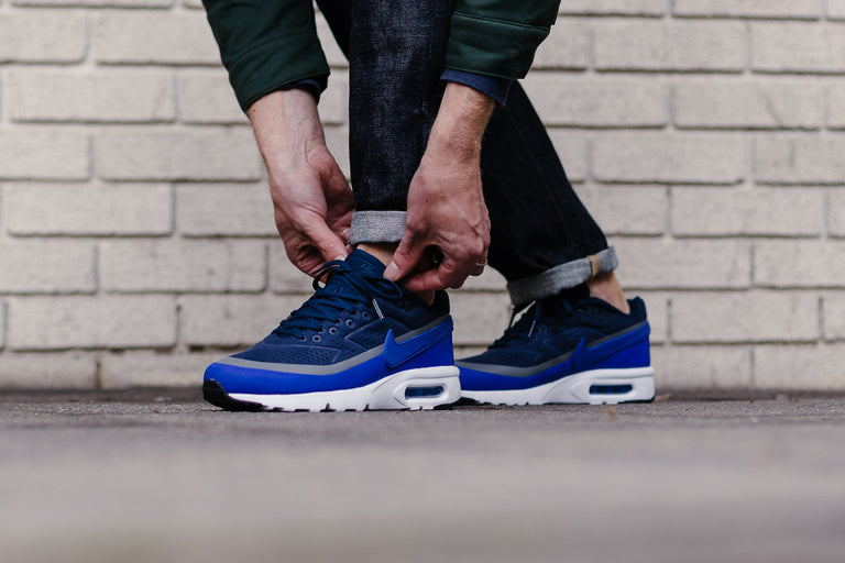 sports shoes 7cffd 0fb5d ... NIKE AIR MAX BW ULTRA MOIRE MIDNIGHT NAVY RACER BLUE REFLECT SILVER  918205 400 5794 WEB