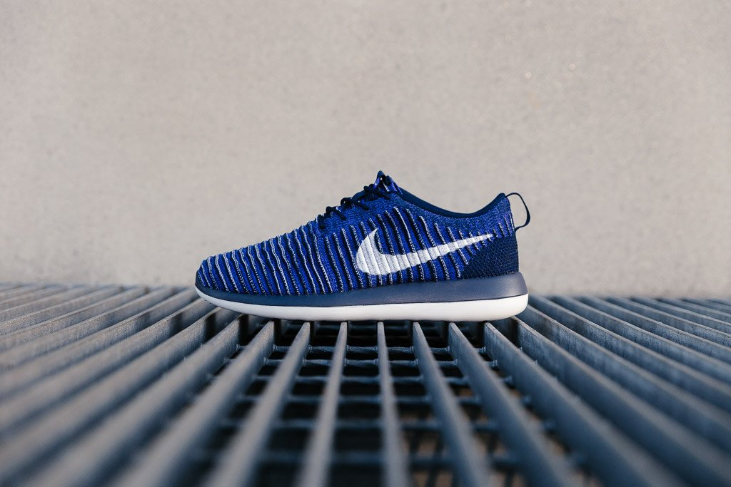 a5e28c71328a nike roshe two flyknit blue