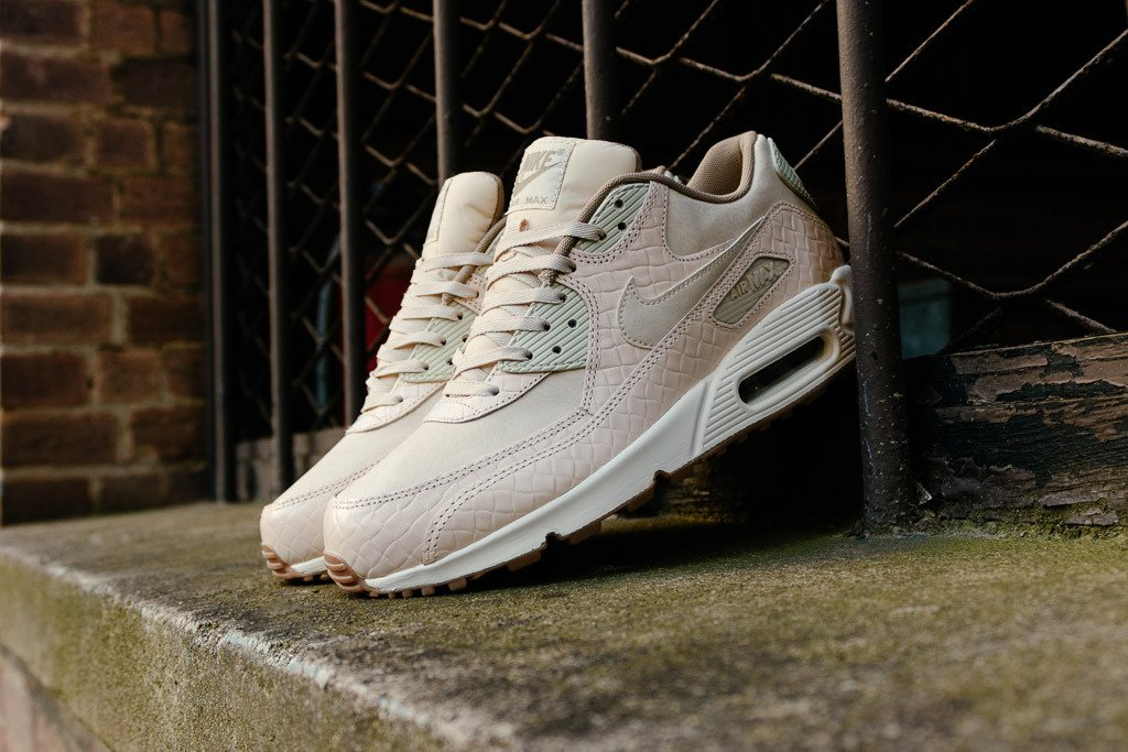 Nike Air Max 90 Premium Baskets imitation serpent Gris
