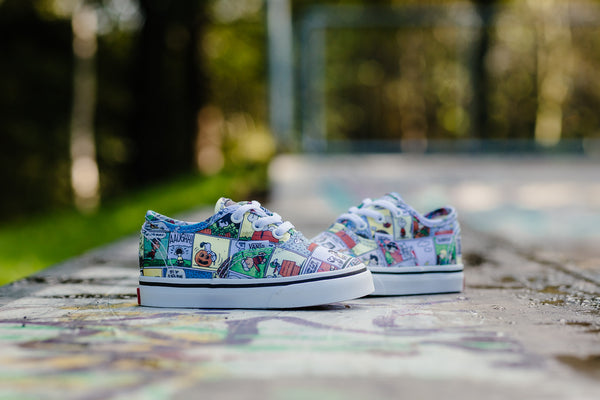 Vans x Peanuts Authentic 'Comics' Infants VA38E7QQ2, Skate, Vans - SOLEHEAVEN