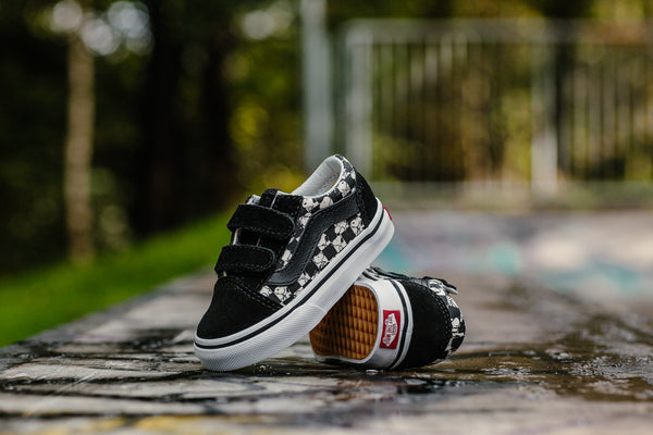 Vans x Peanuts Old Skool V 'Checkerboard' Infants VA344KQQO, Skate, Vans - SOLEHEAVEN