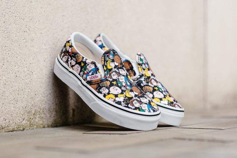 Vans x Peanuts Classic Slip-On Kids 'The Gang' VA32QIOQX