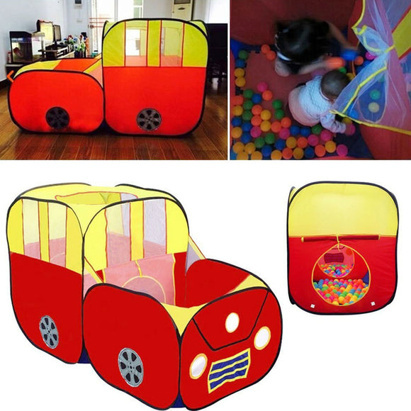 Red Sports Car Kids Play Tent House Play Hut Children