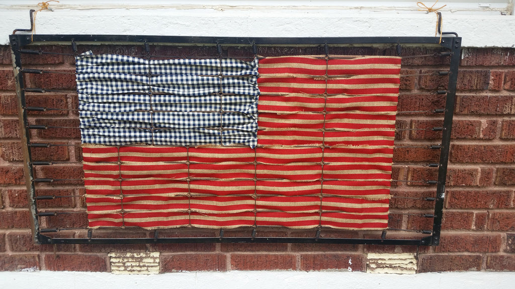 American Flag - Upcycled Baby Crib Springs