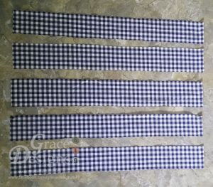 Strips of Blue and White Cloth