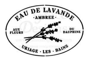 EAU DE LAVANDE Stencil by Grace Designs