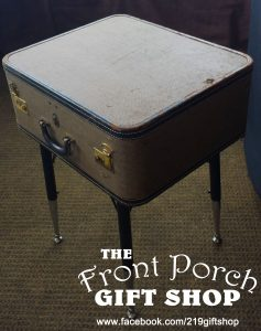 Suitcase End Table Display
