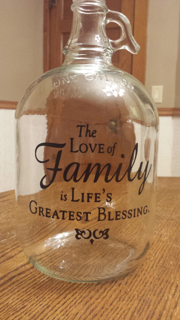 "Vintage Jug – ""The Love of Family…"" Design"
