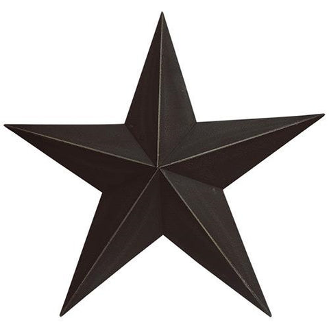 Black Metal Barn Star 18""