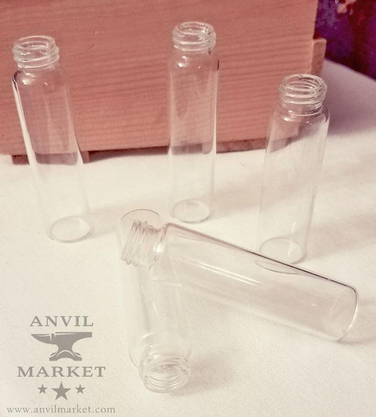 Clear Glass Vials (Set of 10)