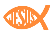 JESUS Fish Decal (Free Shipping) - Small