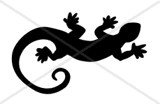 Gecko / Lizard Decal (Free Shipping)