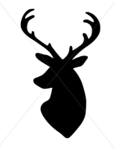 Male Deer Head Decal (Free Shipping)