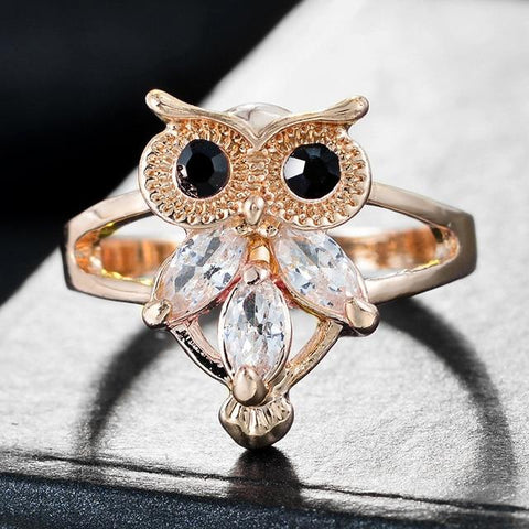 Free Owl Crystal Ring