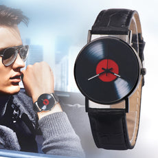 Retro Vinyl Record Watch
