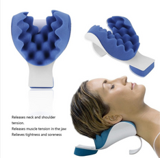 Neck tension relieving headrest